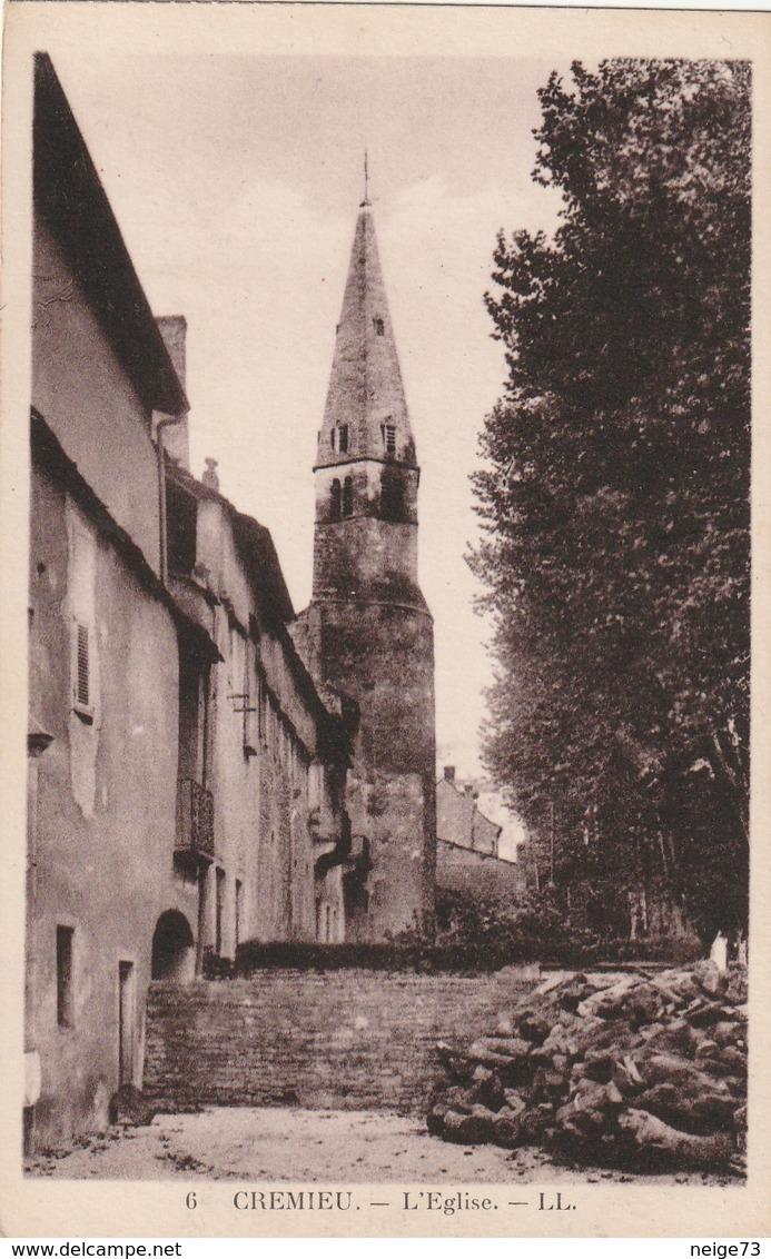 Carte Postale Ancienne De L'Isère - Crémieu - L'Eglise - Crémieu