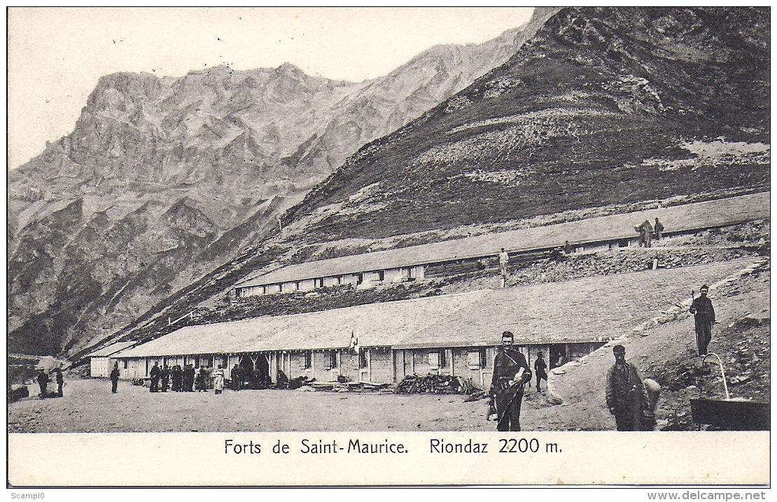 16745.....RIONDAZ, Forts De Saint-Maurice - VS Wallis