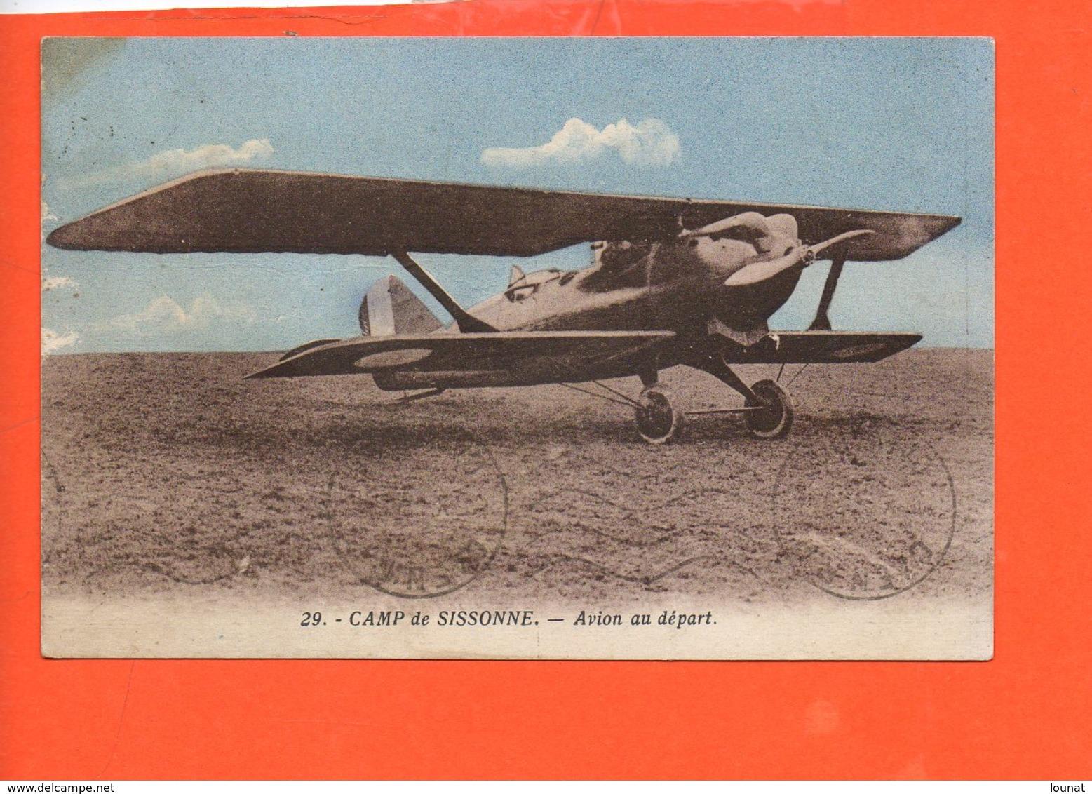 AVION - Camp De Sissonne - Avion Au Départ - Avions
