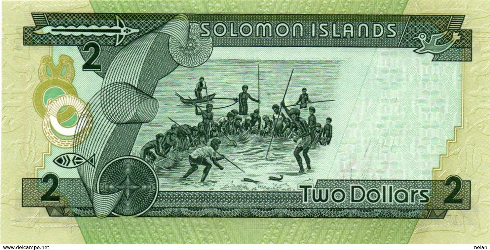 SOLOMON ISLANDS-2 DOLLARS- P-25-UNC - Salomons