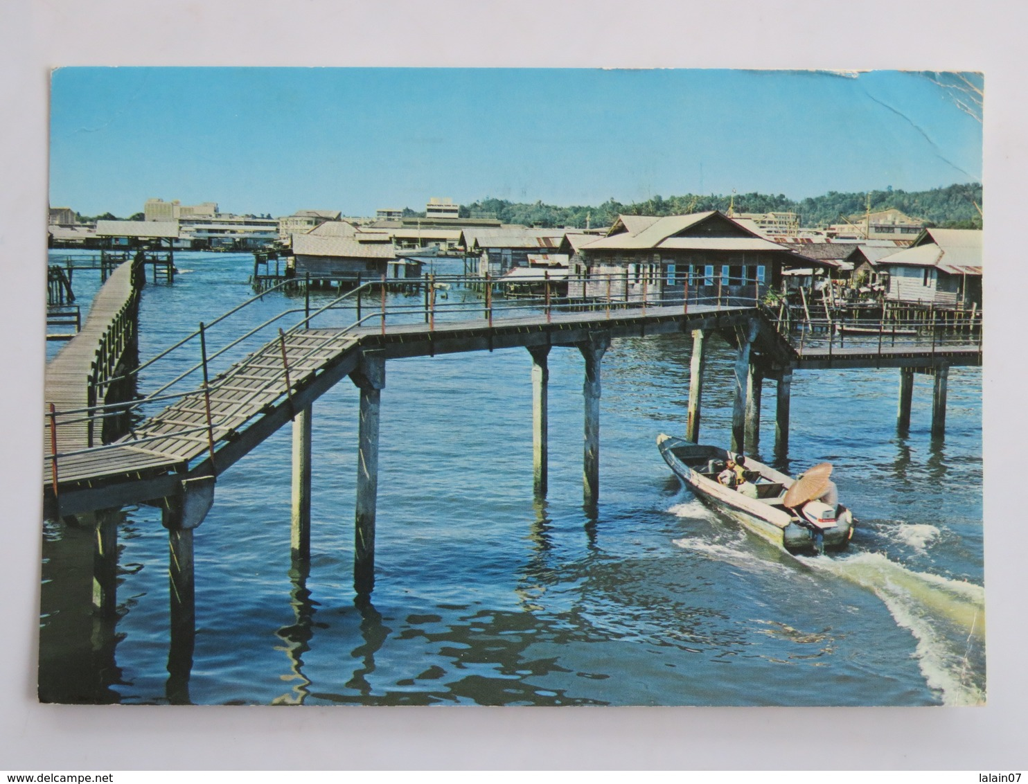 Carte Postale : BRUNEI : Kampong Ayer Brunei, Picture Shows A Typical Kampong, Stamps In 1989 - Brunei