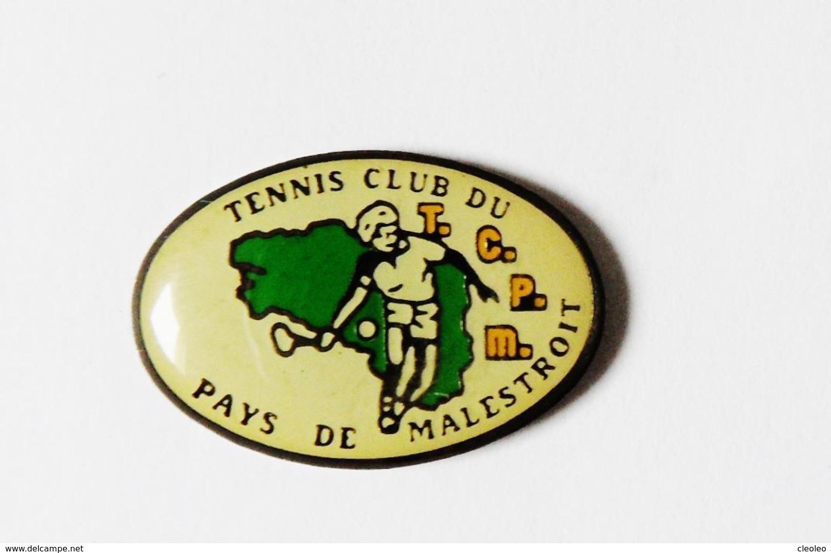 Pin's Carte De Bretagne Tennis Club Du Pays De Malestroit - Villes