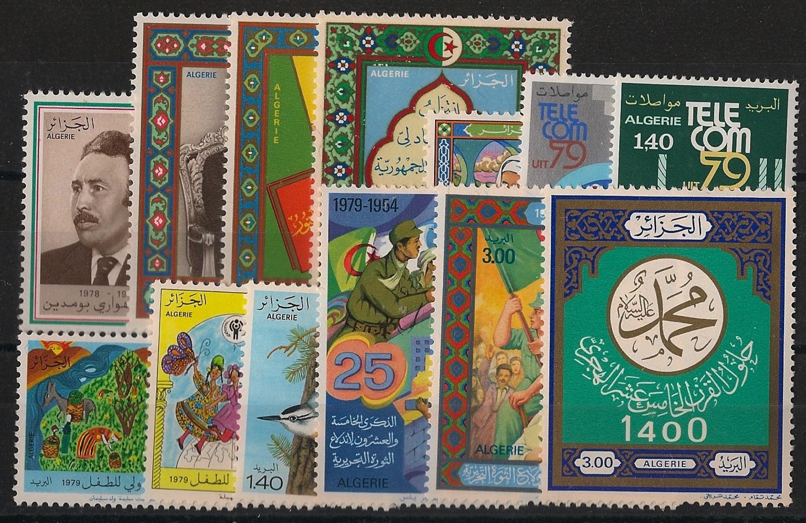 Algérie - Année Complète 1979 - N°Yv. 696 à 708 - Neuf Luxe ** / MNH / Postfrisch - Algerien (1962-...)