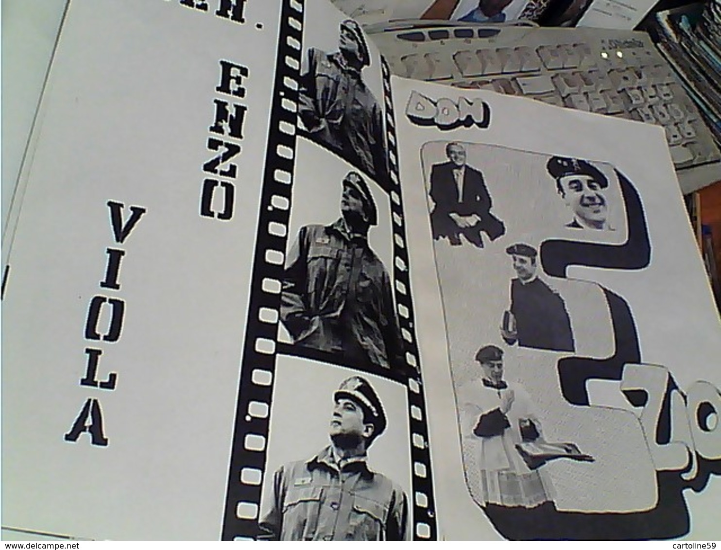 RICORDO CONGEDO MILITARE RACCOLTA ILLUSTRATA 7 FANTERIA 5 RITRATTI HUMOR COLONNELLO GENERALE  N1975 GS1404 - Riviste & Giornali