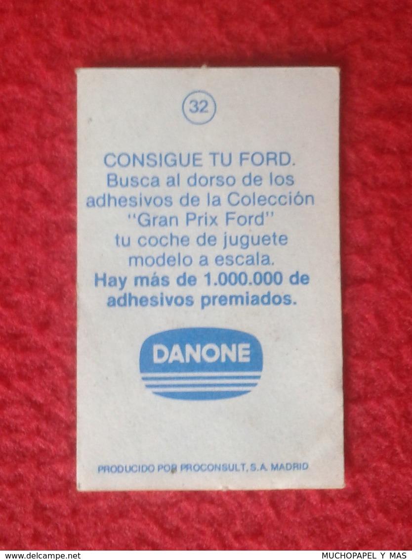 ANTIGUO CROMO DANONE COLECCIÓN GRAN PRIX FORD F1 FÓRMULA 1 G. P. DE AUSTRIA OSTEIRREICHRING 1977 ALAN JONES SHADOW DN8A - Cromos