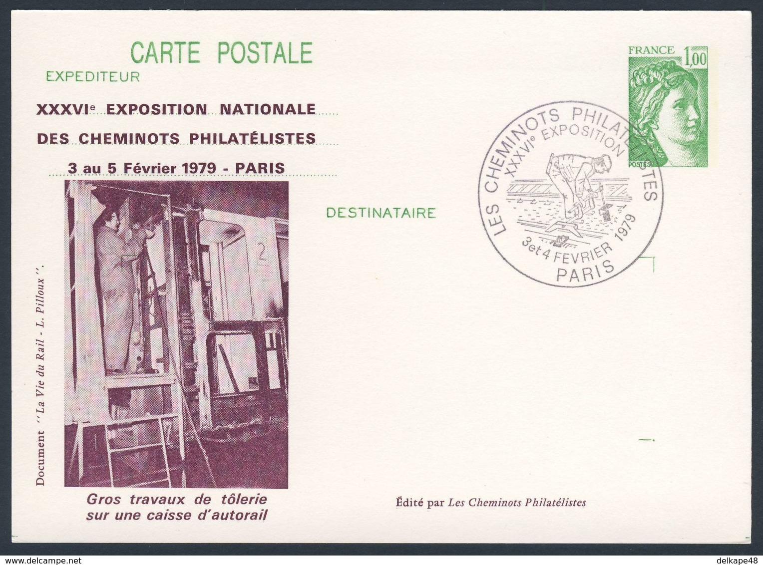 France Rep. Française 1979 Card / Karte / Carte Postale  - Heavy Work Sheet Metal On Checkout Railcar / - Treinen