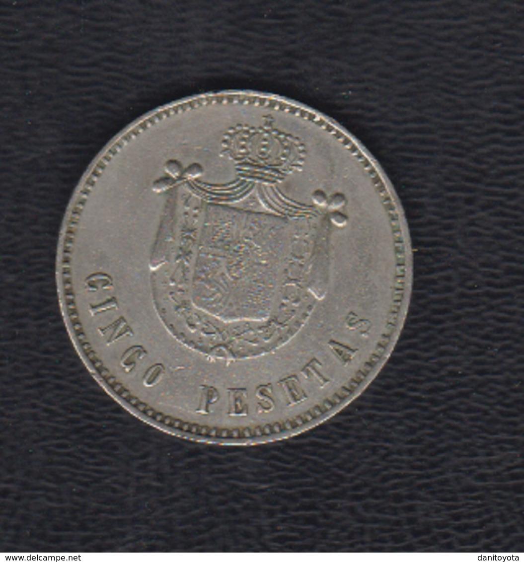 MONEDA DE CASINO ANTIGUA.  5 PTAS NIQUEL - Casino