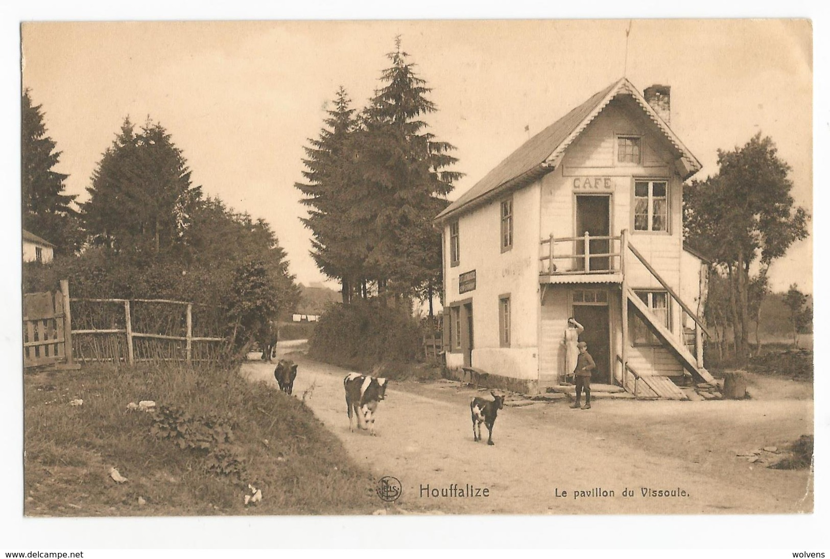 Alhoumont Cowan Café Le Pavillon De Vissoule Carte Postale Ancienne Houffalize - Houffalize