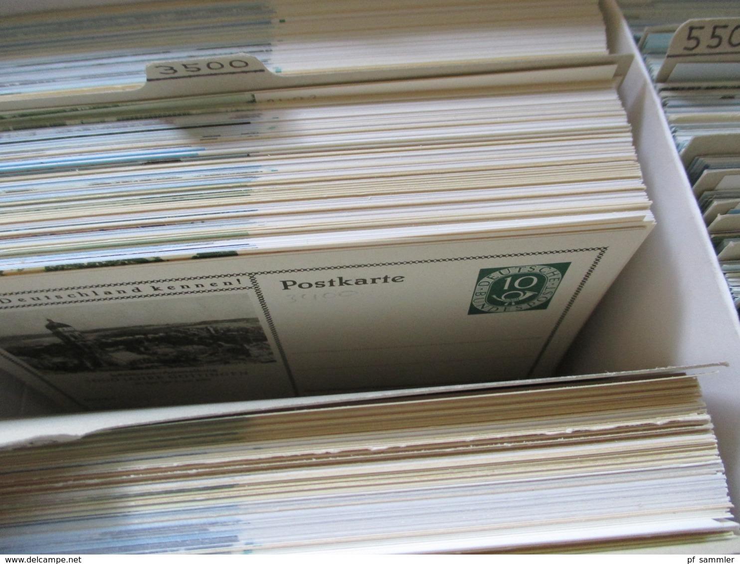 Deutsches Reich U. BRD Ab Posthorn Ganzsachen Händlerlager Ca. 4000 Karten! Lernt Deutschland Kennen! Ungebraucht! - Deutschland
