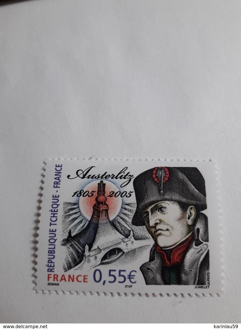 """Timbre France  YT 3782 """" La Bataille D'Austerlitz """" 2005 Neuf - France"""
