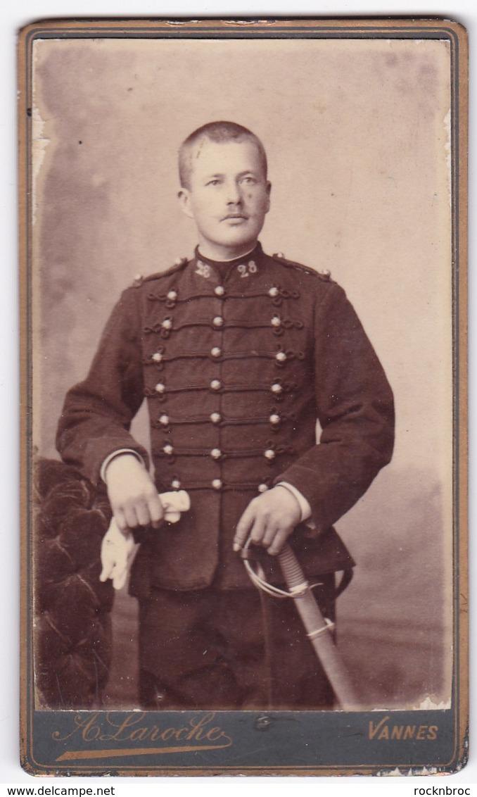 Ancienne Photo Portrait Format CDV Homme Militaire (A. Laroche, Vannes) - Personas Anónimos