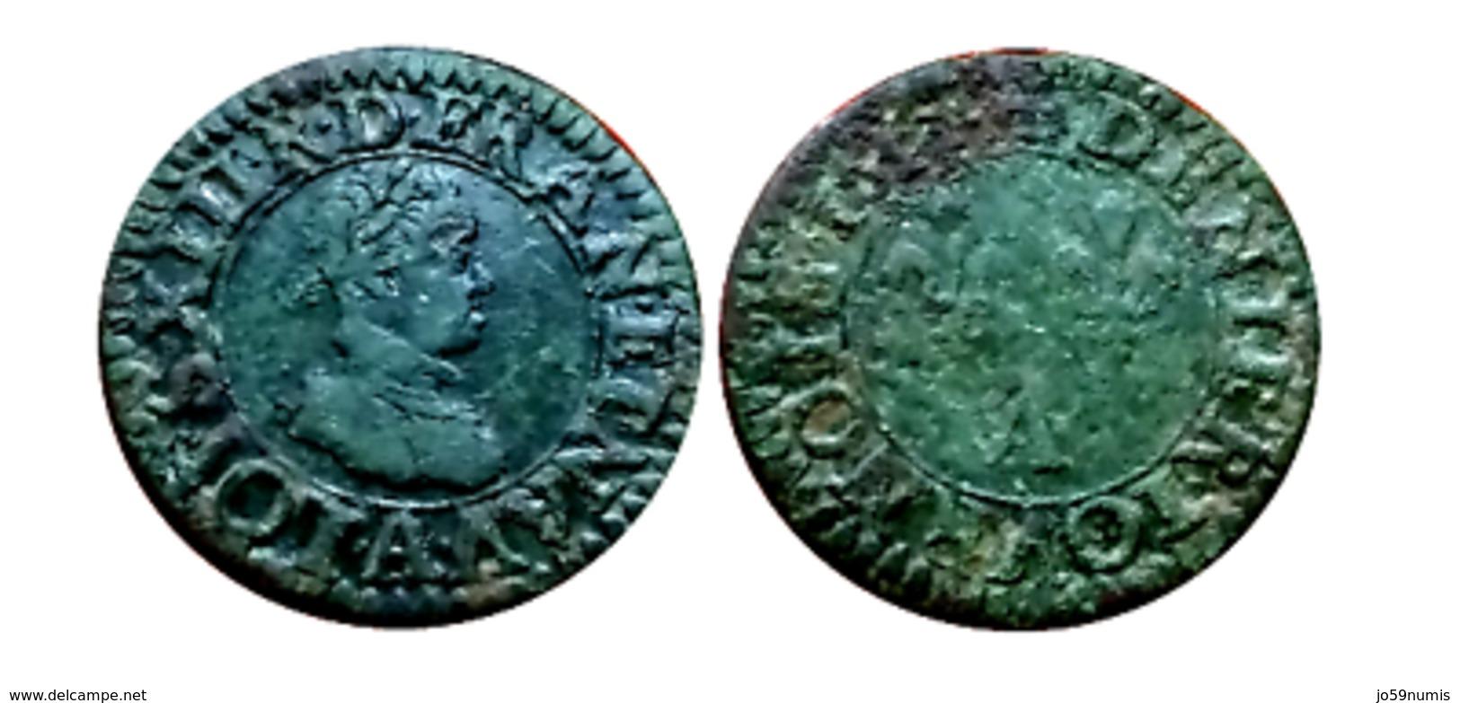 Beau Denier Tournois LOUIS XIII 1611 A (Paris) A VOIR!!! - 987-1789 Monnaies Royales