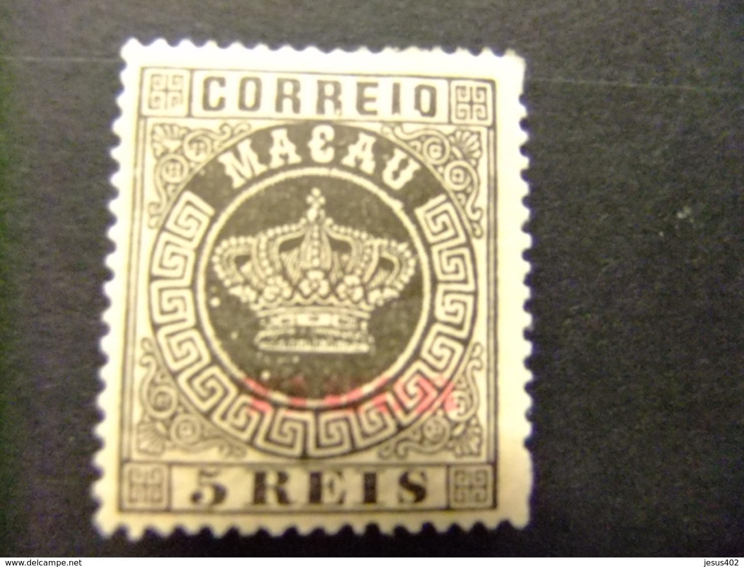 TIMOR 1885 Sello De Macao Macau 1884 CORONA Sobrecargado TIMOR Dentado 13 1/2 Yvert  1 * MH - Timor