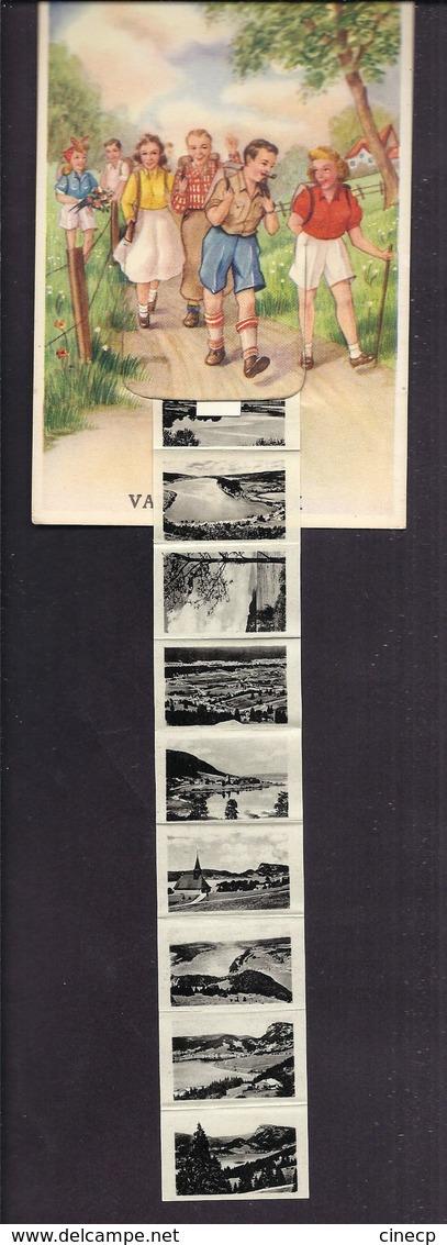 CPA A SYSTEME SUISSE VALLEE DE JOUX Dépliant Accordéon 10 Vues Photographiques - VD Vaud