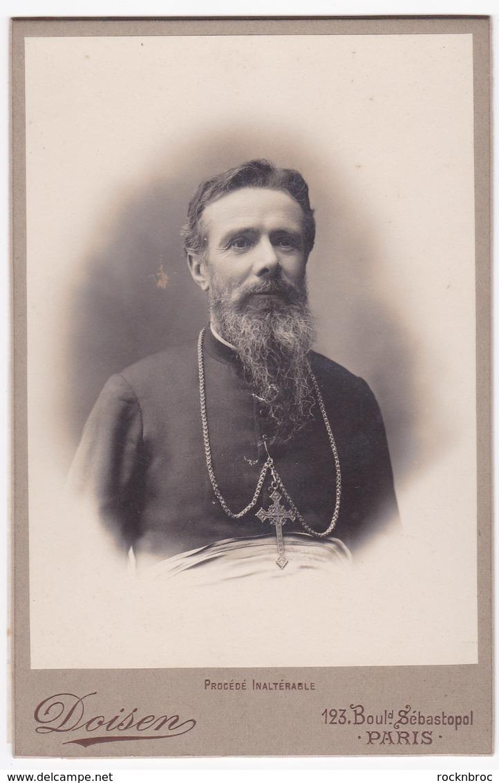 Ancienne Photo Portrait Homme D'Eglise Religieux (Doisen, Paris) - Persone Anonimi