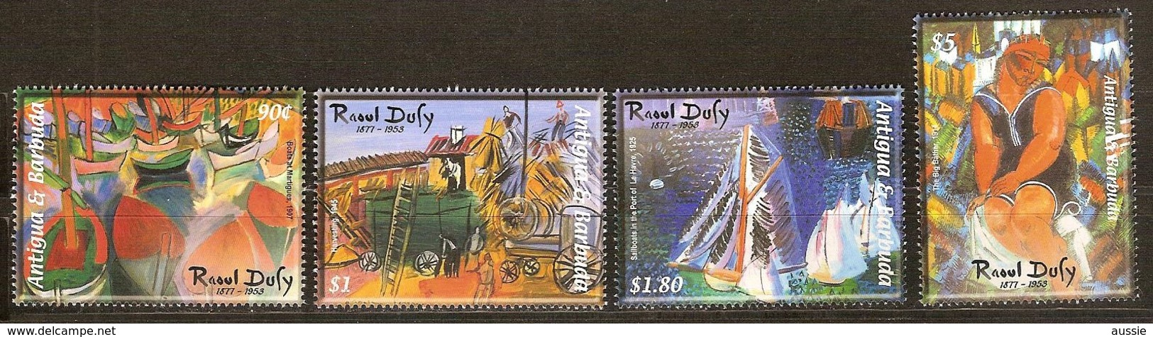 Antigua & Barbuda 2003 Yvertn° 3340-3343 *** MNH Cote 11,00 Euro Peintre Raoul Dufy - Antigua Et Barbuda (1981-...)
