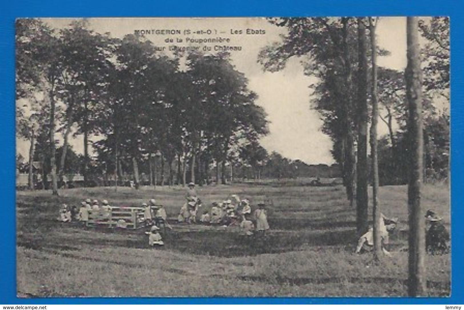 91 - MONTGERON - LES ÉBATS DE LA POUPONNIÈRE, AVENUE DU CHATEAU - 1922 - Montgeron