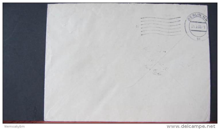 """Dienst/ZKD: Brief Mit AFS =030= Unterwellenborn Und Brn Aufkleber """"Aushändigung Als Gew. Postsendung..""""  OSt. V. 24.3.66 - DDR"""