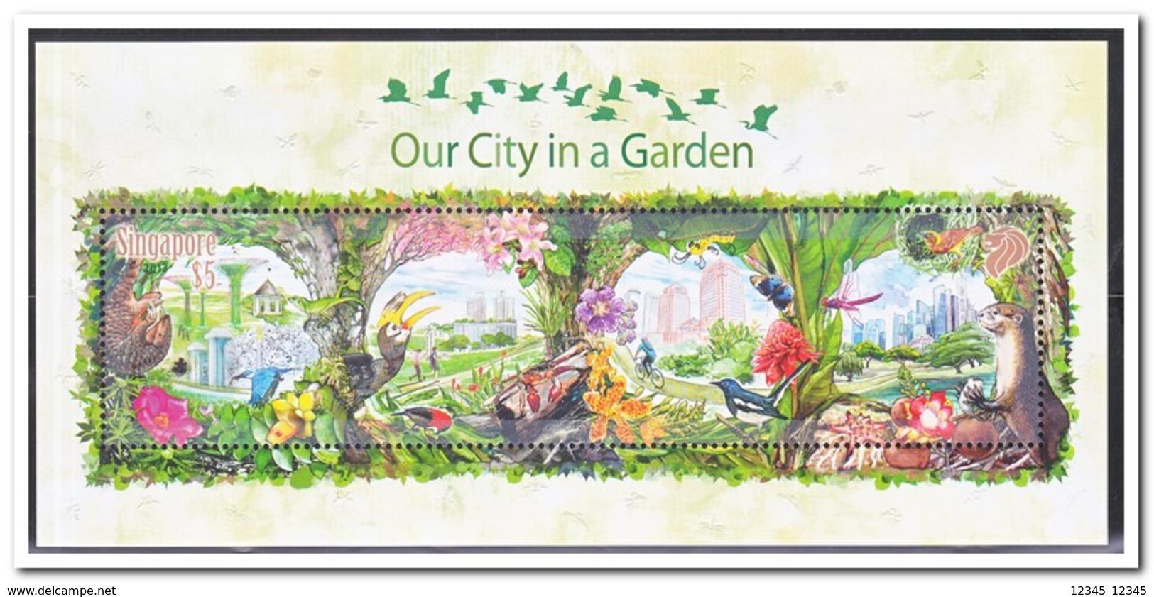 Singapore 2013, Postfris MNH, Birds, Our City In A Garden ( In Folder ) - Singapore (1959-...)