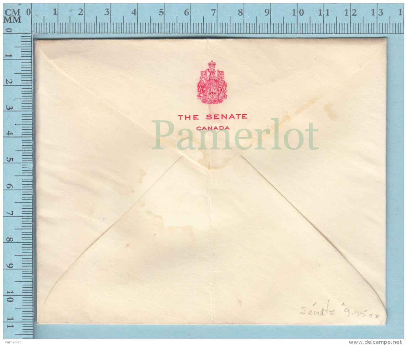 Canada -  1968,   The Senate  Envelope, The Senate Canada Crest At Back - Lettres & Documents