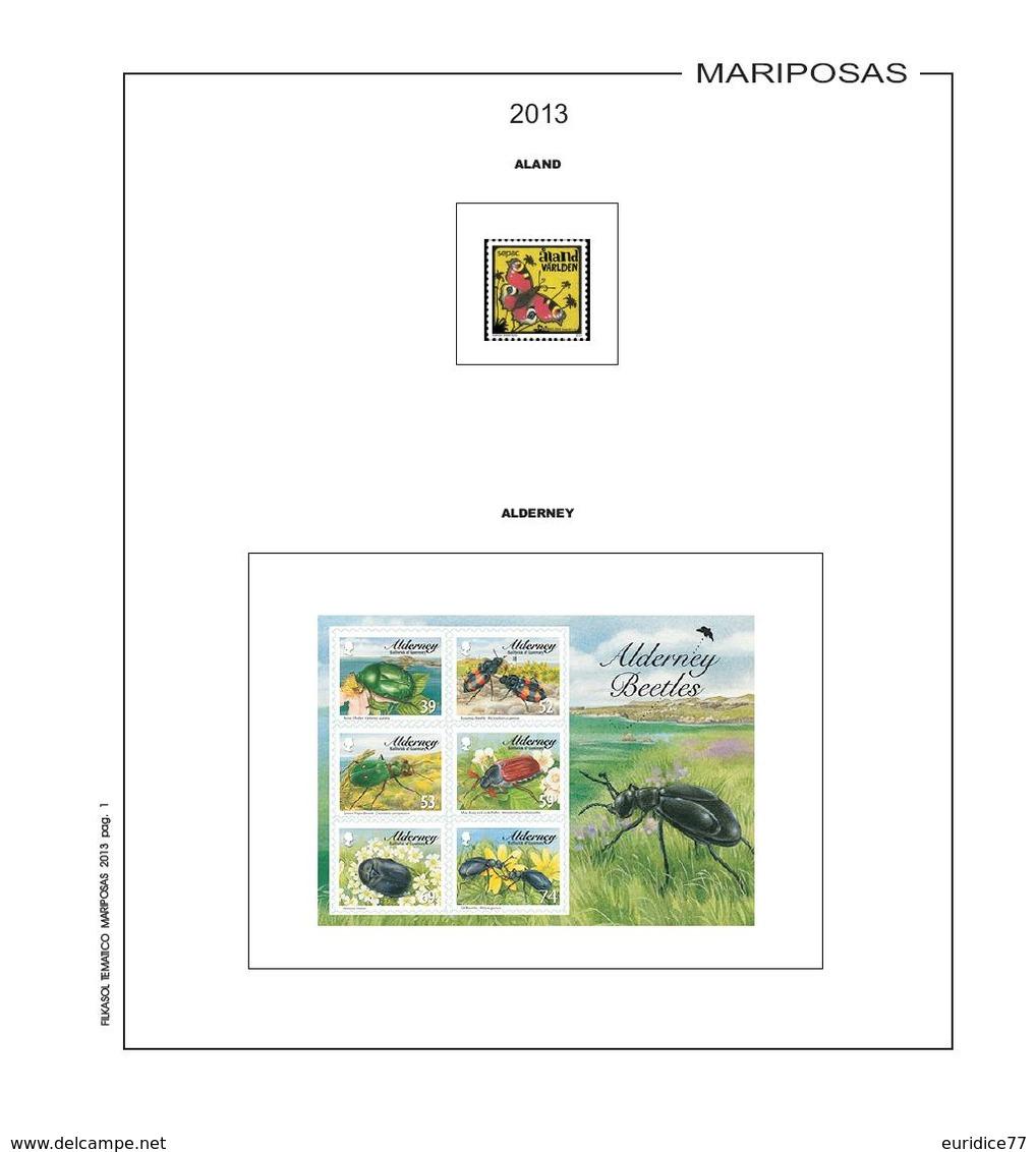 Suplemento Filkasol TEMATICA MARIPOSAS 2013 - Montado Con Filoestuches HAWID Transparentes - Pre-Impresas