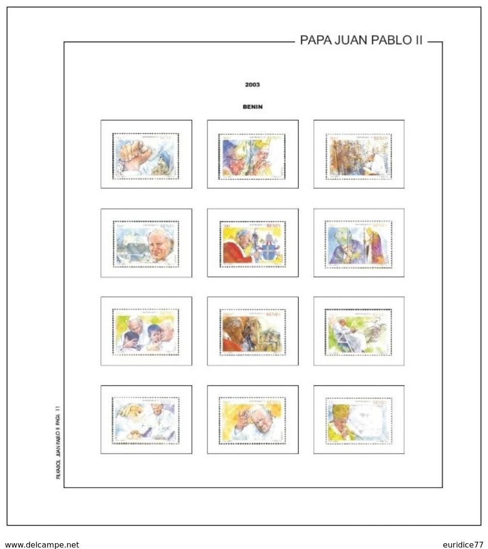 Suplemento Filkasol TEMATICA PAPA JUAN PABLO II 1982-2011 - Montado Con Filoestuches HAWID Transparentes - Pre-Impresas