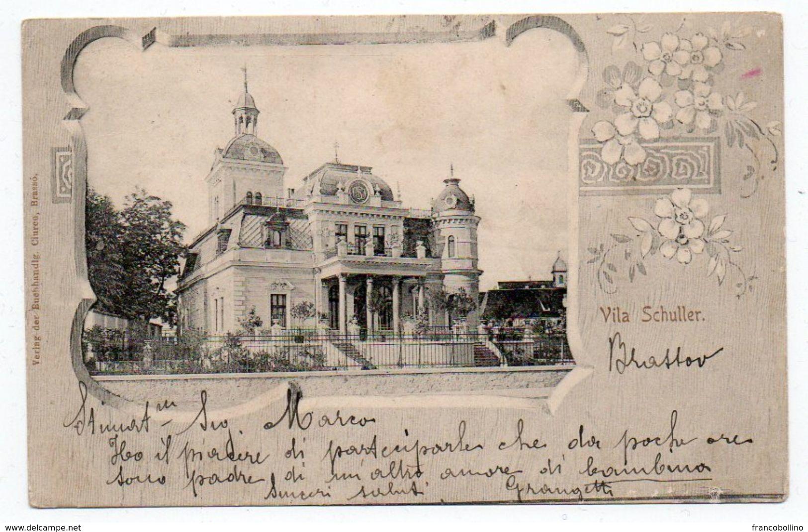 ROMANIA/ROUMANIE - KRONSTADT/BRASSO'/BRASOV - VILA SCHULLER - OLD LITHO - Romania