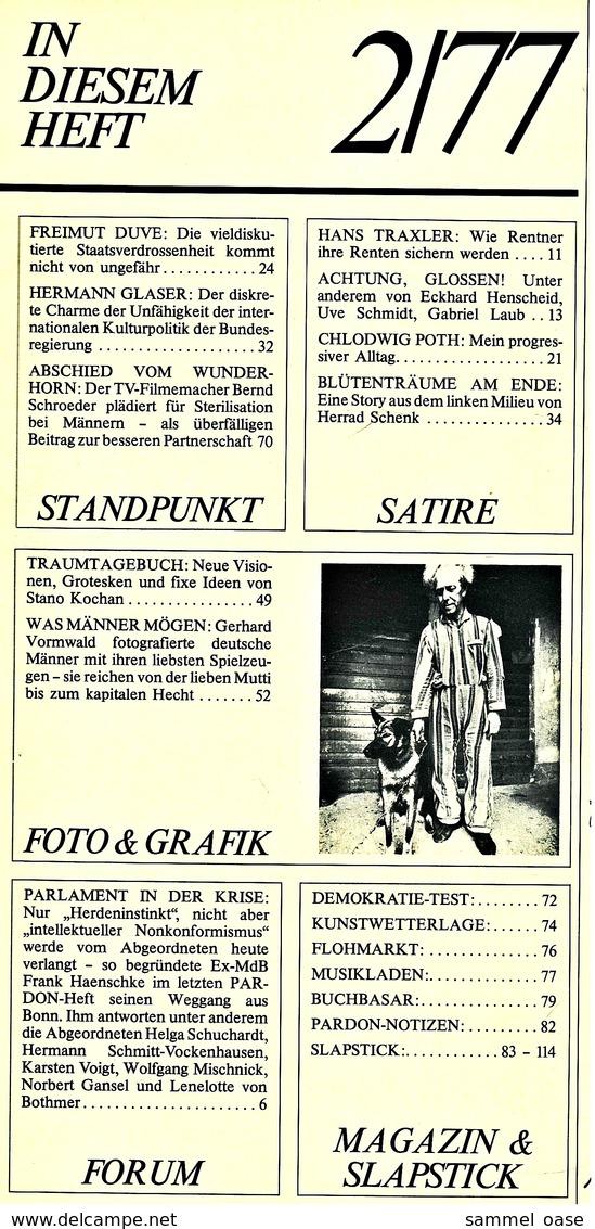 Pardon Zeitschrift - Das Satirische Magazin Nr. 2 Von 1977  -  Nichts Ist Mehr Verdeckt : Der Totale Durchblick - Zeitungen & Zeitschriften