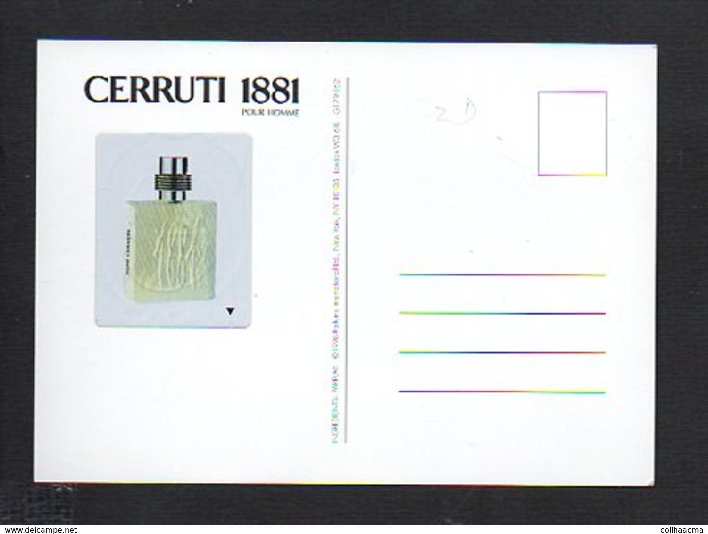 """Carte Avec échantillon ( à Décollé )  Parfum """"Cerruti 1881"""" Pour Homme - Perfume Cards"""
