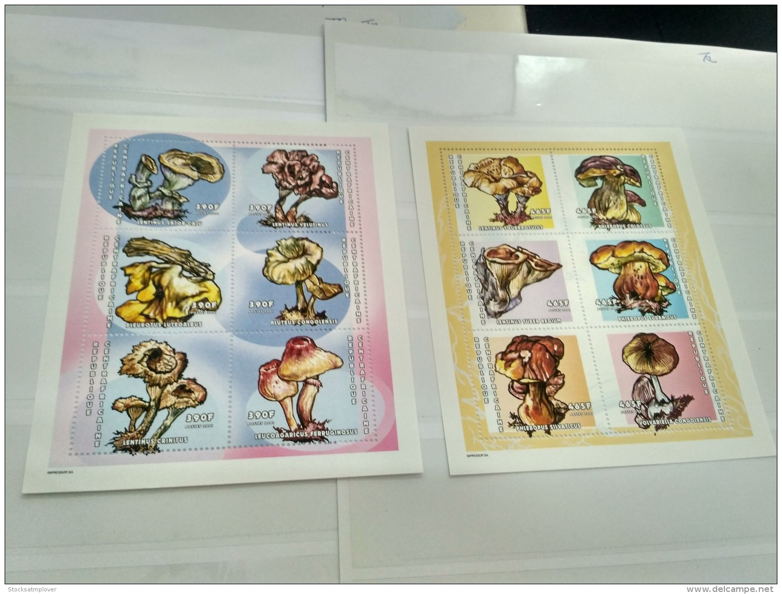 Central Africa 2001  Mushrooms MI.2642-2653 - Centrafricaine (République)