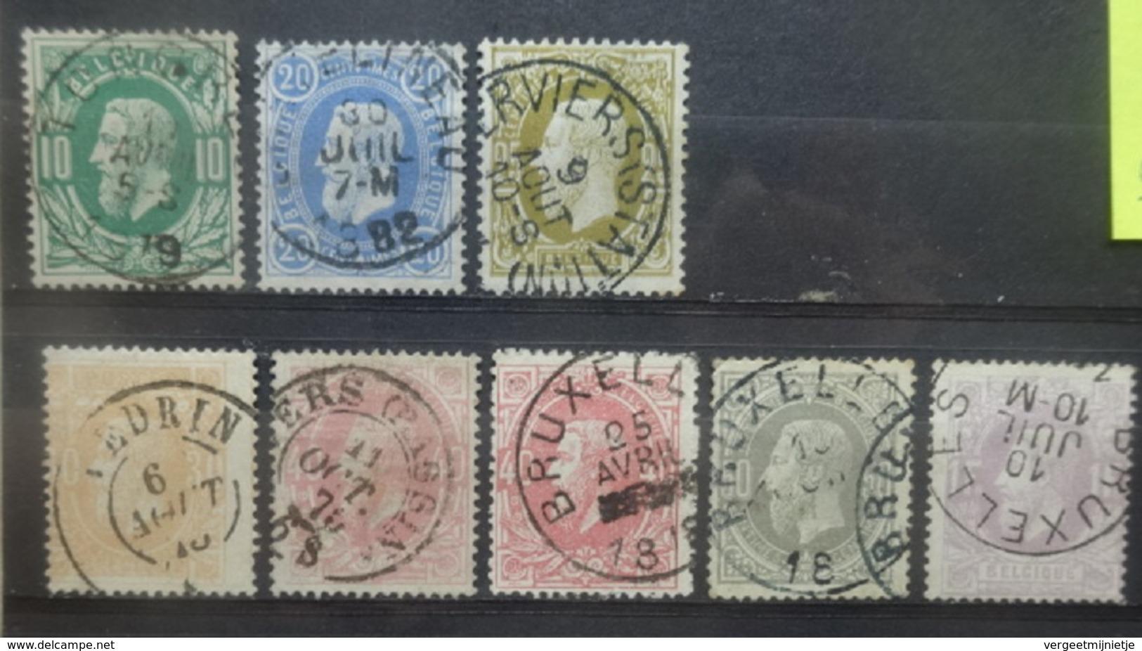 BELGIE  1883     Nr. 30 - 36     Gestempeld   CW  49,00 - 1883 Léopold II