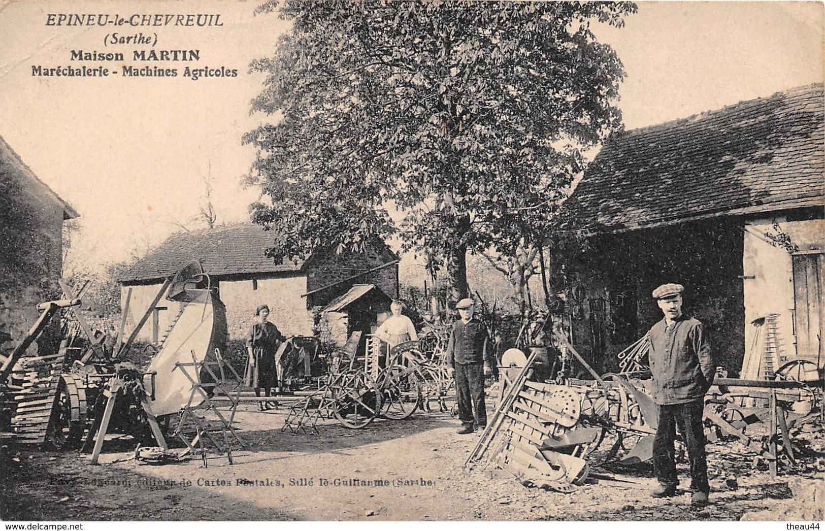 ¤¤  -  EPINEU-le-CHEVREUIL   -  Maison MARTIN  -  Maréchalerie, Machines Agricoles    -  ¤¤ - France
