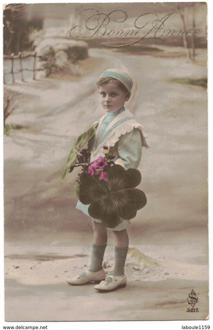 FANTAISIE ENFANT LITTLE BOY GIRL MAEDCHEN : Bonne Année - Enfant Coiffe Chapeau Trèfle à 4 Feuilles - Enfants