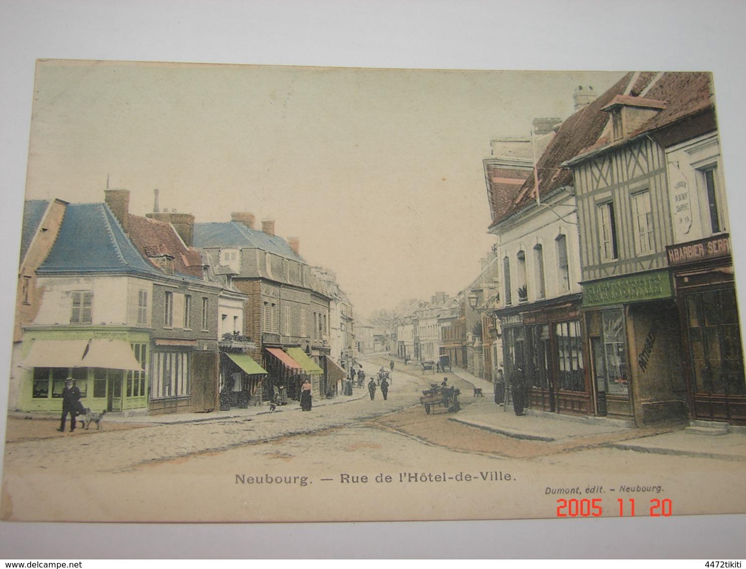 C.P.A.- Neubourg (27) - Rue De L'Hôtel De Ville - 1920 - SUP (AA7) - Autres Communes