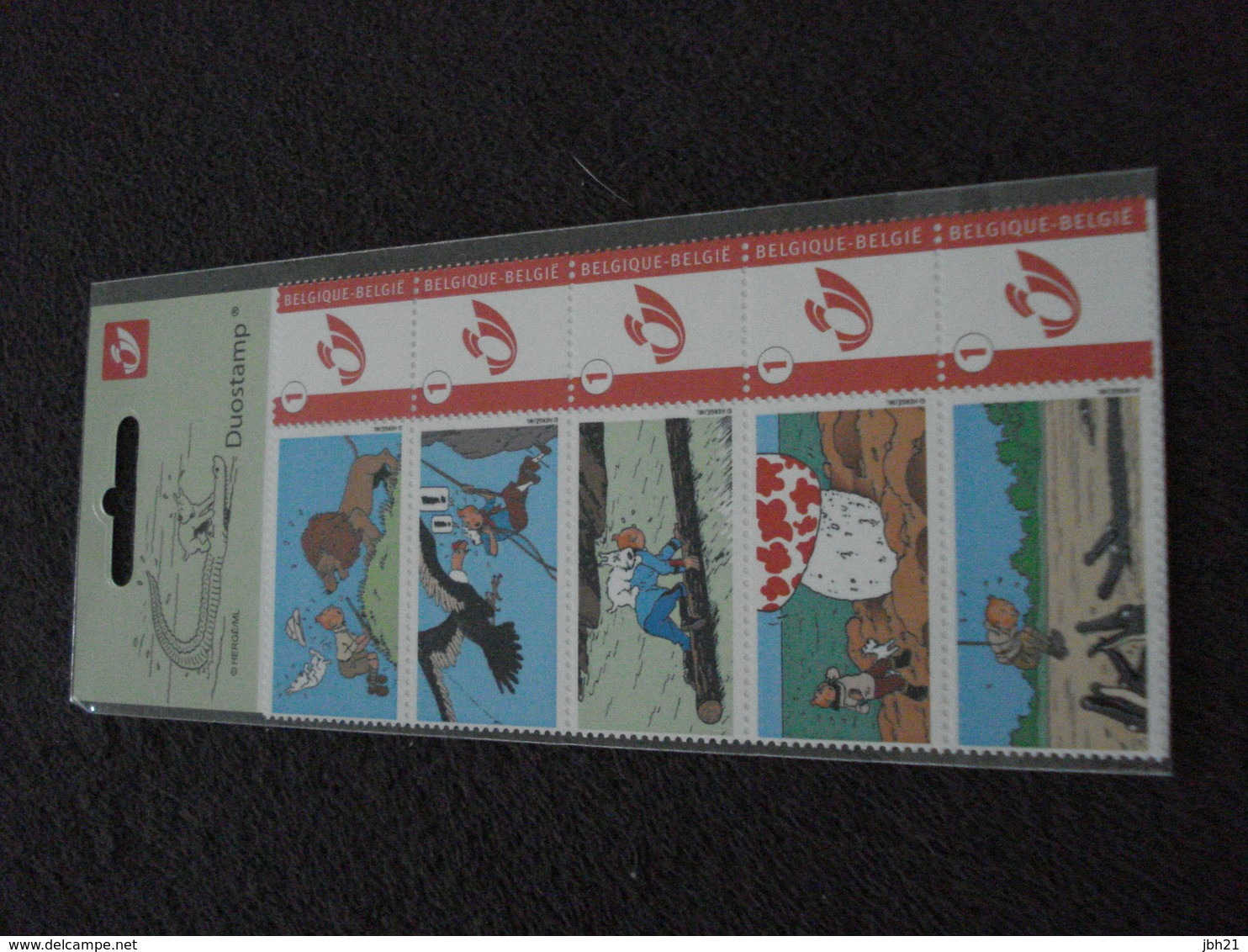 Belgique, Duostamp, TINTIN, 2008 Tintin En Danger - België