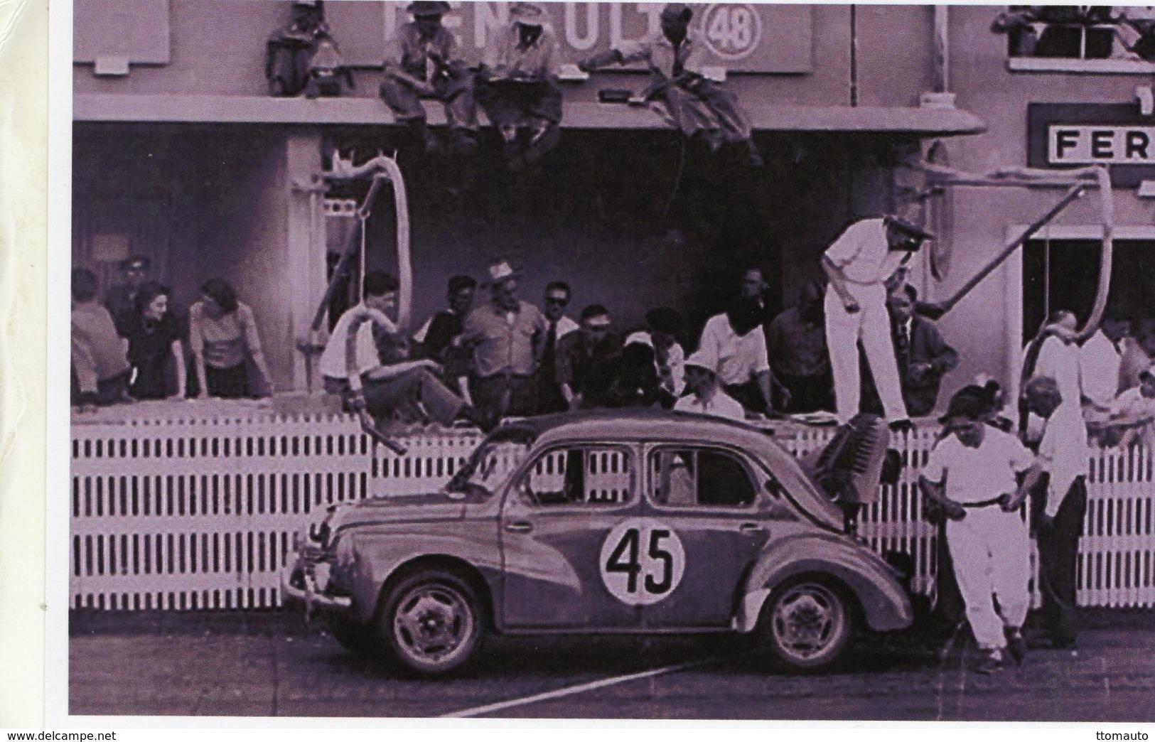 Renault 4CV   -  Pilotes:Juste-Emile Vernet/Roger Eckerlein  (Concurrents Francaises Du Mans 1950)  -  15x10 PHOTO - Le Mans