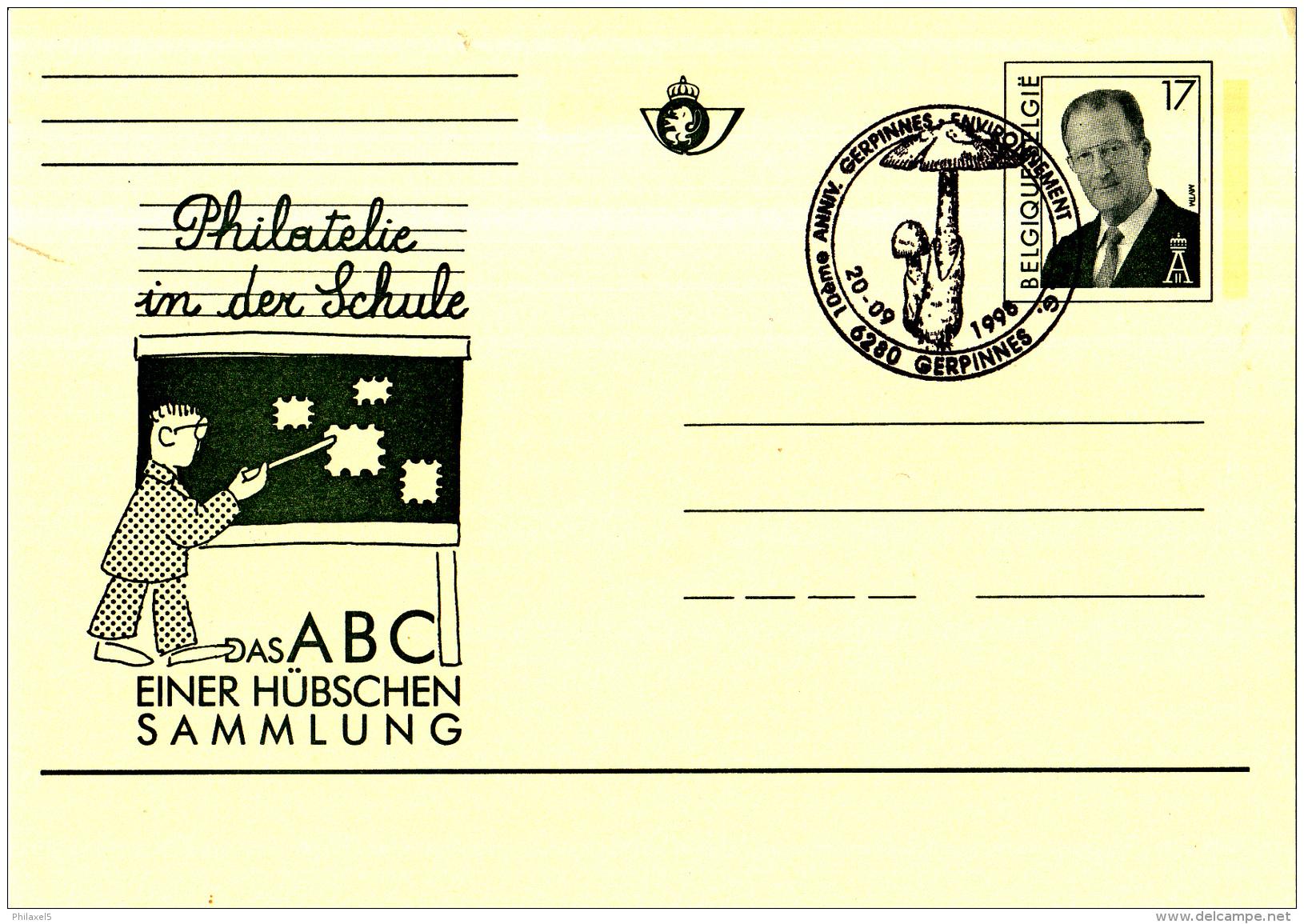 België - 20-09-1998 - 10ème Anniversaire Gerpinnes - Environnement -Paddenstoel/ Mushroom/champignon/Pilz - Champignons