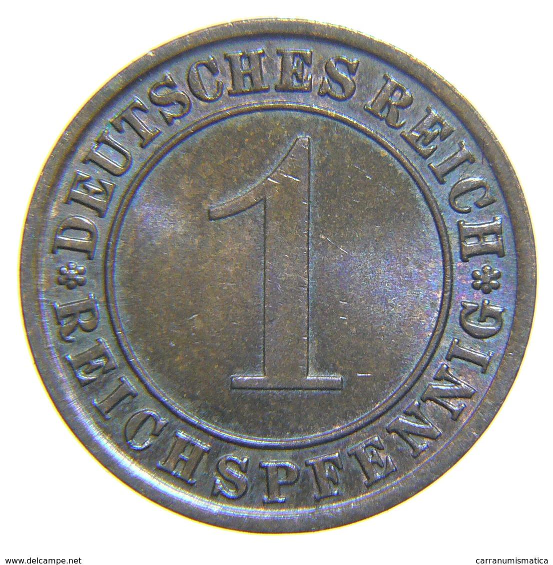 [NC] DEUTSCHLAND / GERMANY - Weimarer Republik - 1 REICHSPFENNIG ( 1934 A) - [ 3] 1918-1933 : Repubblica Di Weimar