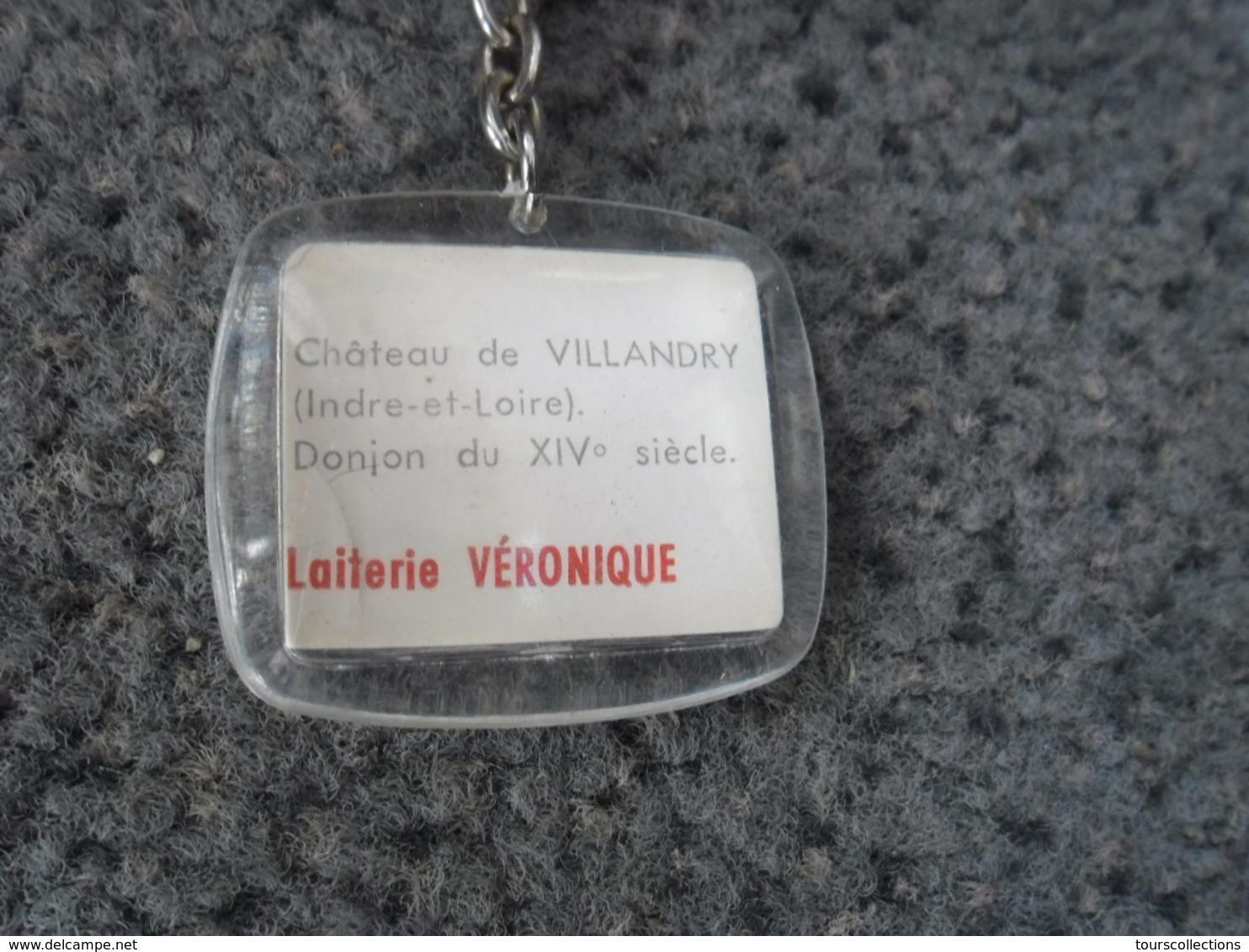 1 PORTE CLEFS REGION CENTRE - Ville Et Château De Villandry (37) - Pub Laiterie Véronique @ Vers 1965 - Porte-clefs
