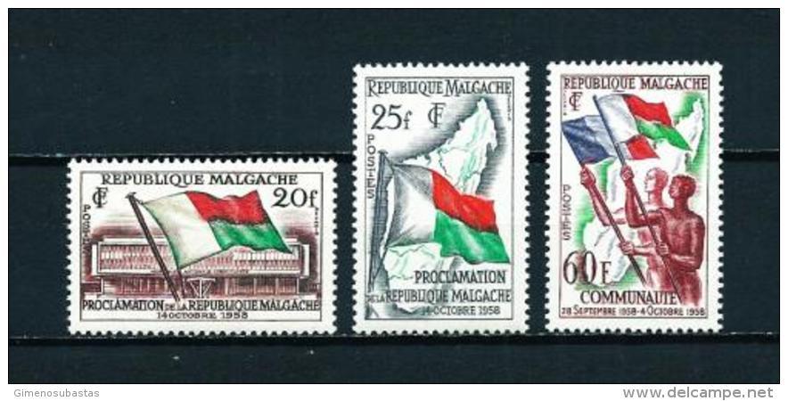 Madagascar  Nº Yvert  338/40  En Nuevo - Madagascar (1960-...)