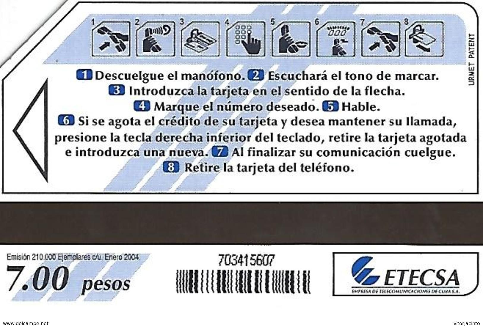 ETECSA - National And Local Phonecard - 7.00 Pesos - Cuba - Cuba