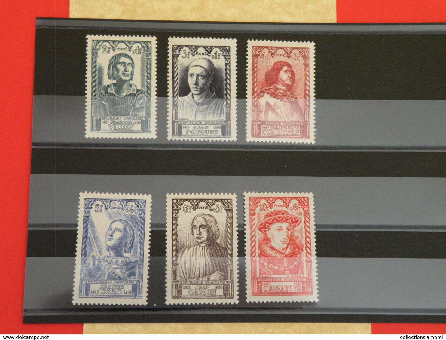 Lot 6 Timbres Neuf 1946 > Série N°765 à 770 - 6 Val - Y&T - Célébrité Du XV Siècle - Coté 13€ - Unused Stamps