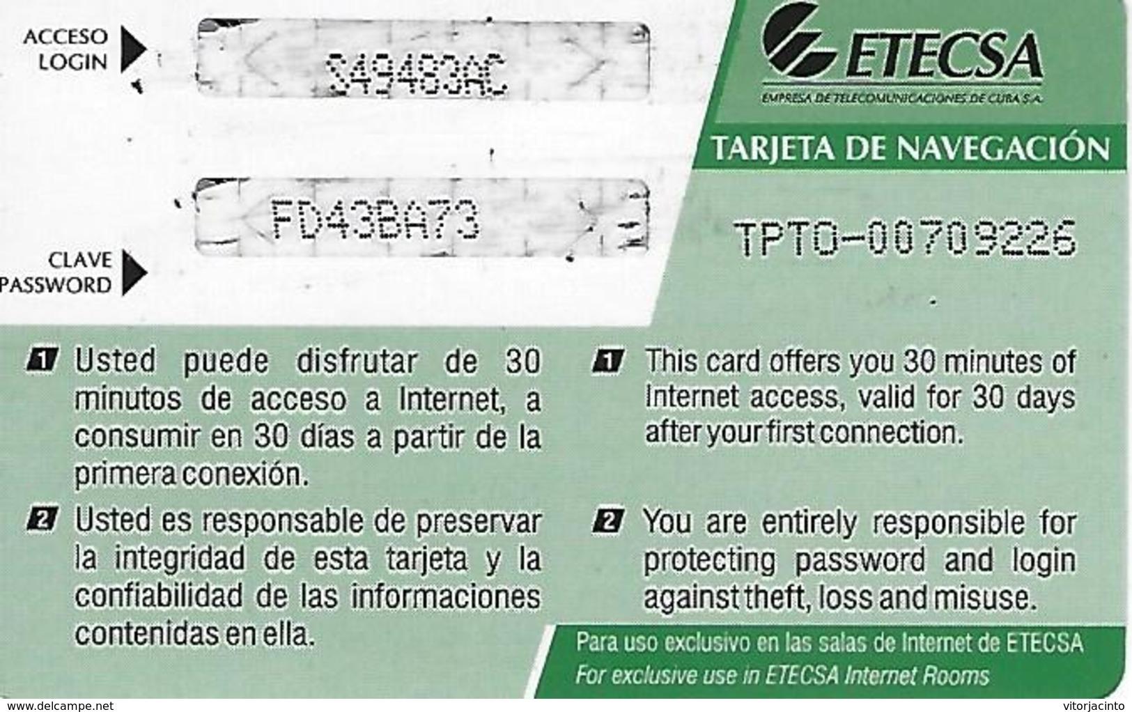 Nauta - Use Of Internet - Etecsa - 3.00 CUC - Cuba - Cuba