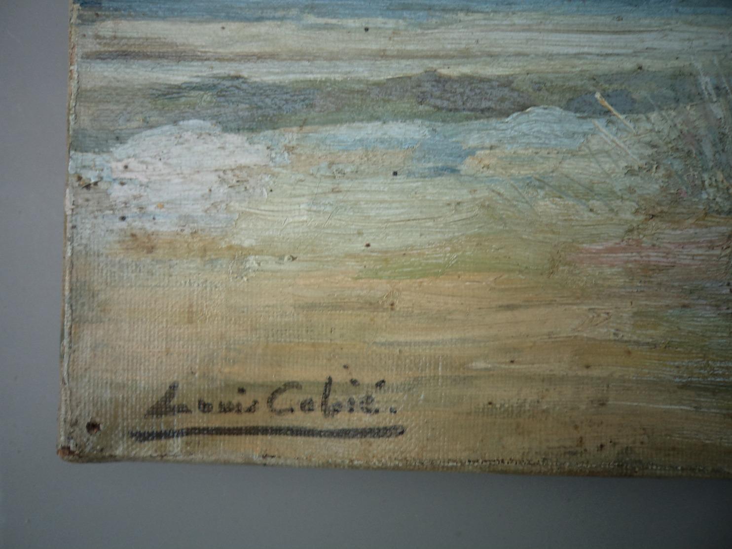 Beau Tableau Ancien Signé Louis Cabié Bassin D'Arcachon Cap Ferret  !! - Oils