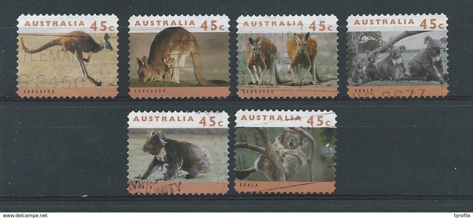 Australië  Y / T     1368a / 1373a        (O) - 1990-99 Elizabeth II