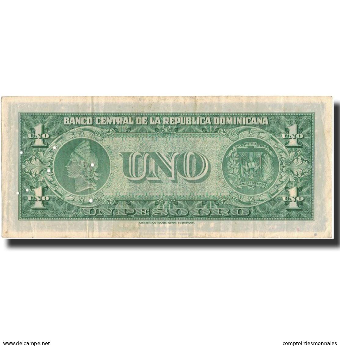 Billet, Dominican Republic, 1 Peso Oro, Undated (1962-63), KM:71a, SUP - Dominicaine