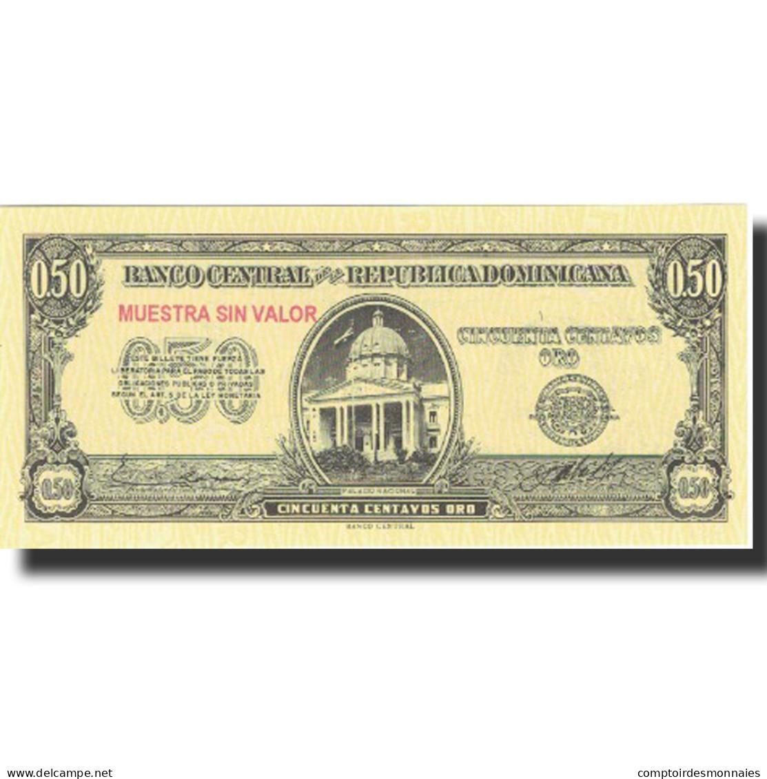 Billet, Dominican Republic, 50 Centavos Oro, Undated (1961), Specimen, KM:90s - Dominicaine