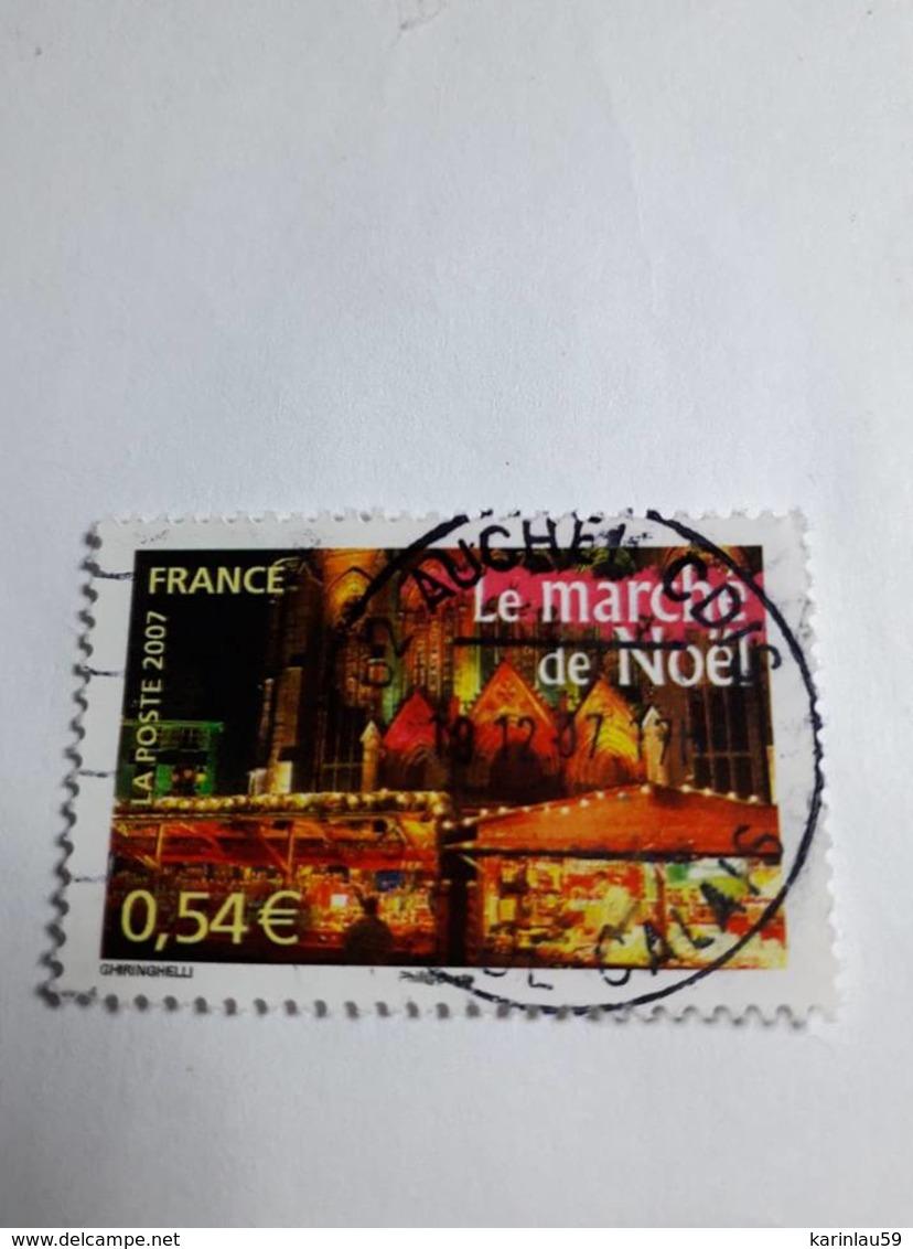 Timbre France N°4099 Le Marché De Noël - Portraits De Régions 10 - France à Vivre (2007) Oblitéré - France