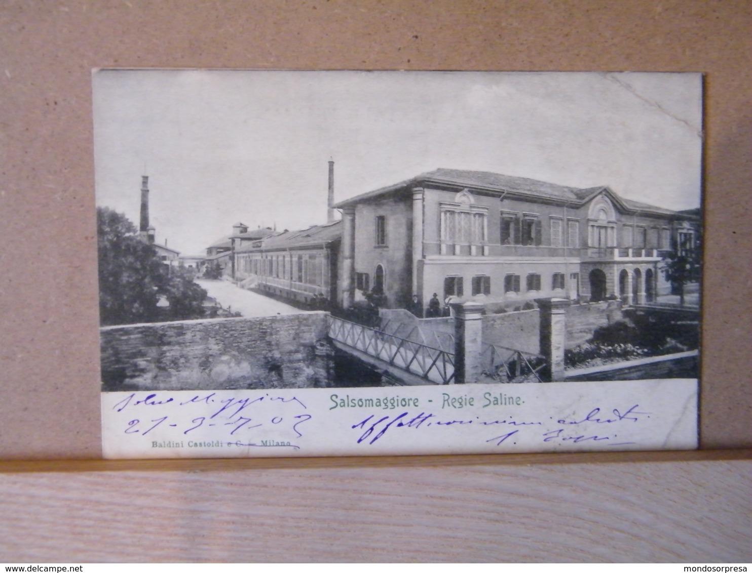 MONDOSORPRESA, SALSOMAGGIORE (PARMA) REGIE SALINE ANIMATA 1902 - Italia