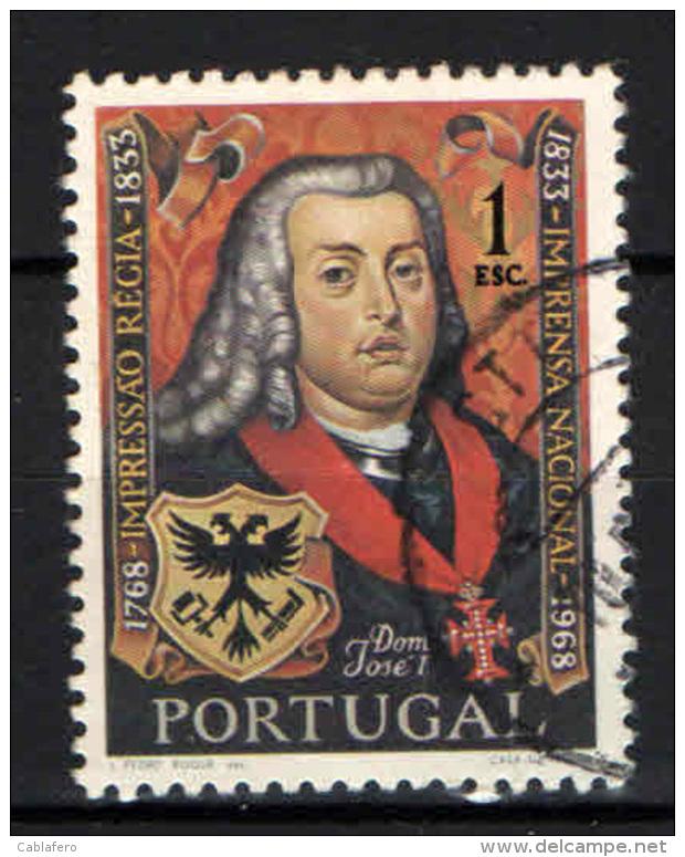 PORTOGALLO - 1969 - RITRATTO DI GIUSEPPE I - USATO - Used Stamps